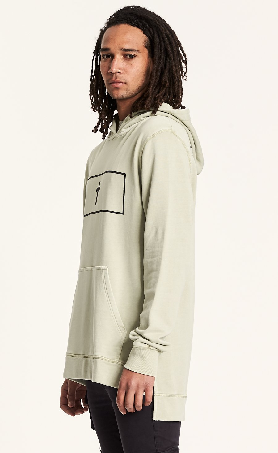 Sand Step Hem Hooded Sweat
