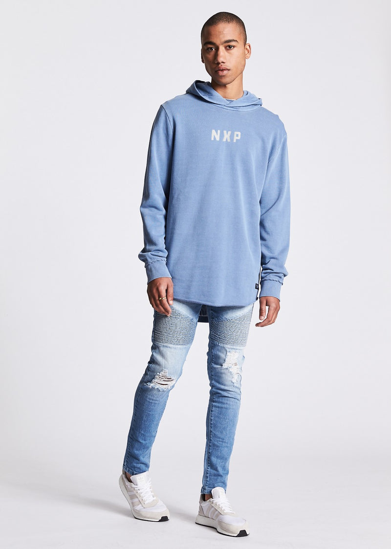 The Cover Raw Curved Hem Hoodie