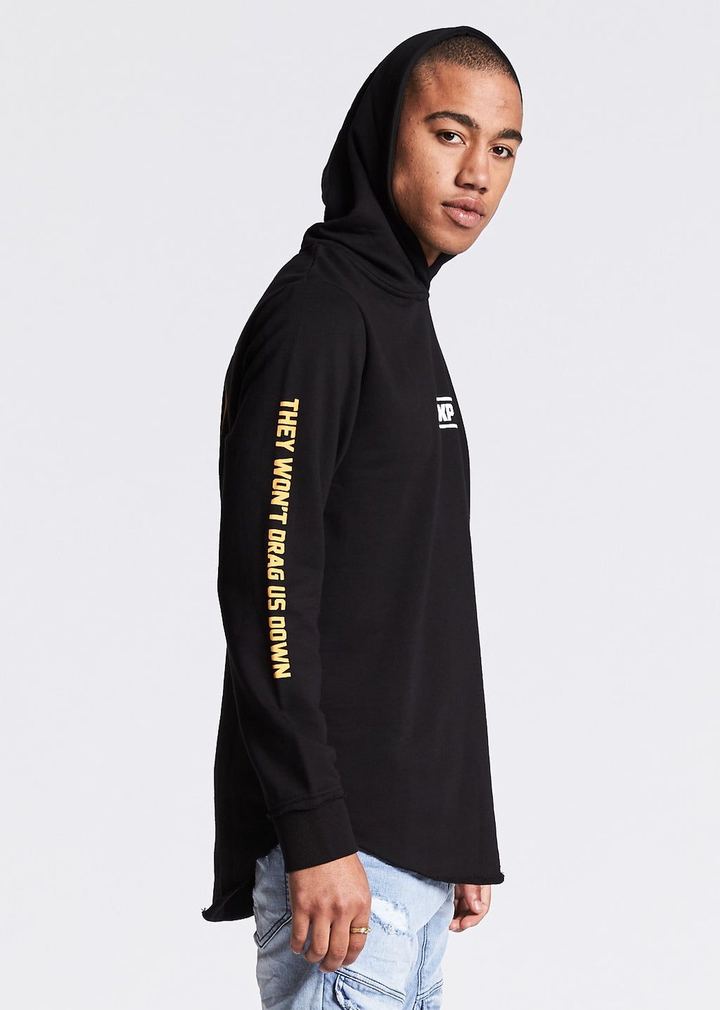 Unleash Hell Raw Curved Hoodie