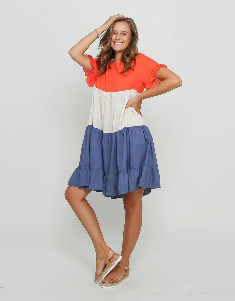 Zora Colour Block Dress