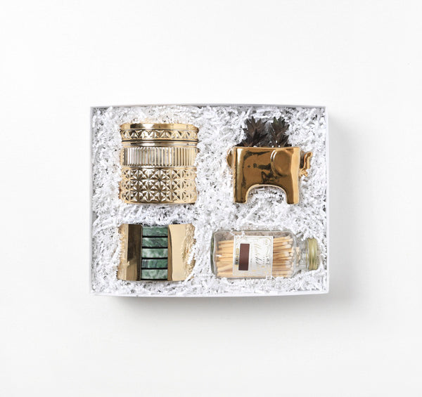 Gold Accents Closing Gift Box