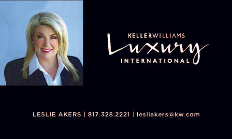 Black Luxury Keller Williams Business Card with Photograph