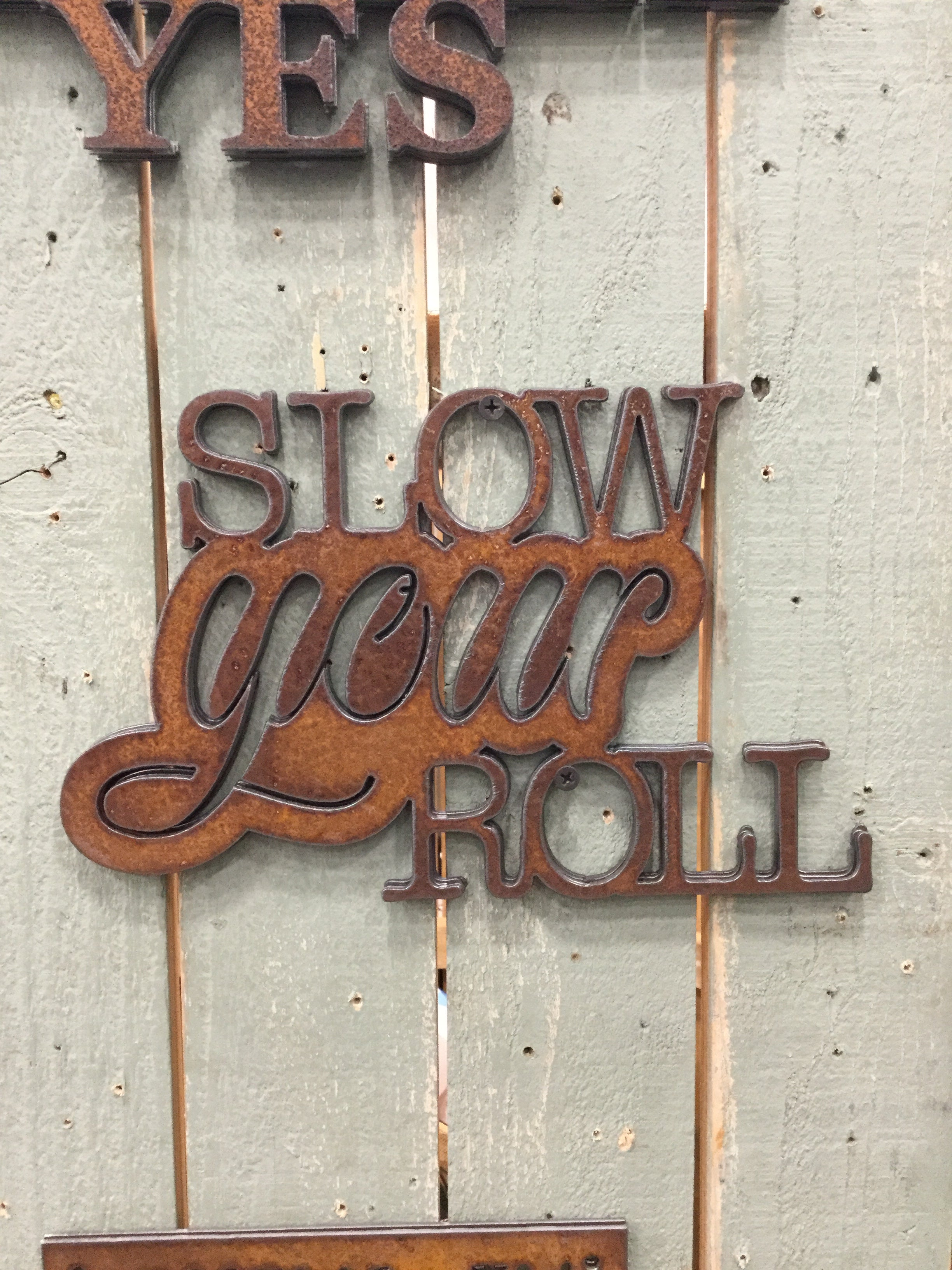 Slow Your Roll Rectangular Metal Sign