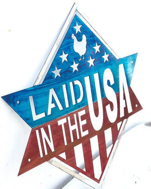 Diamond Banner Laid in the USA Metal Sign