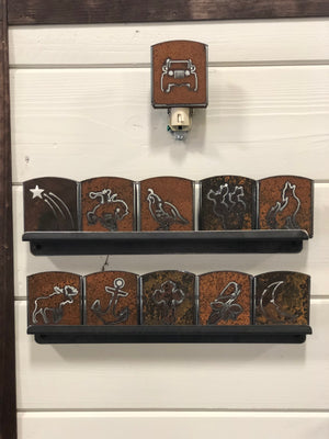 Custom Metal Night Light - Bucking Bronc