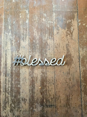 Metal hashtag sign