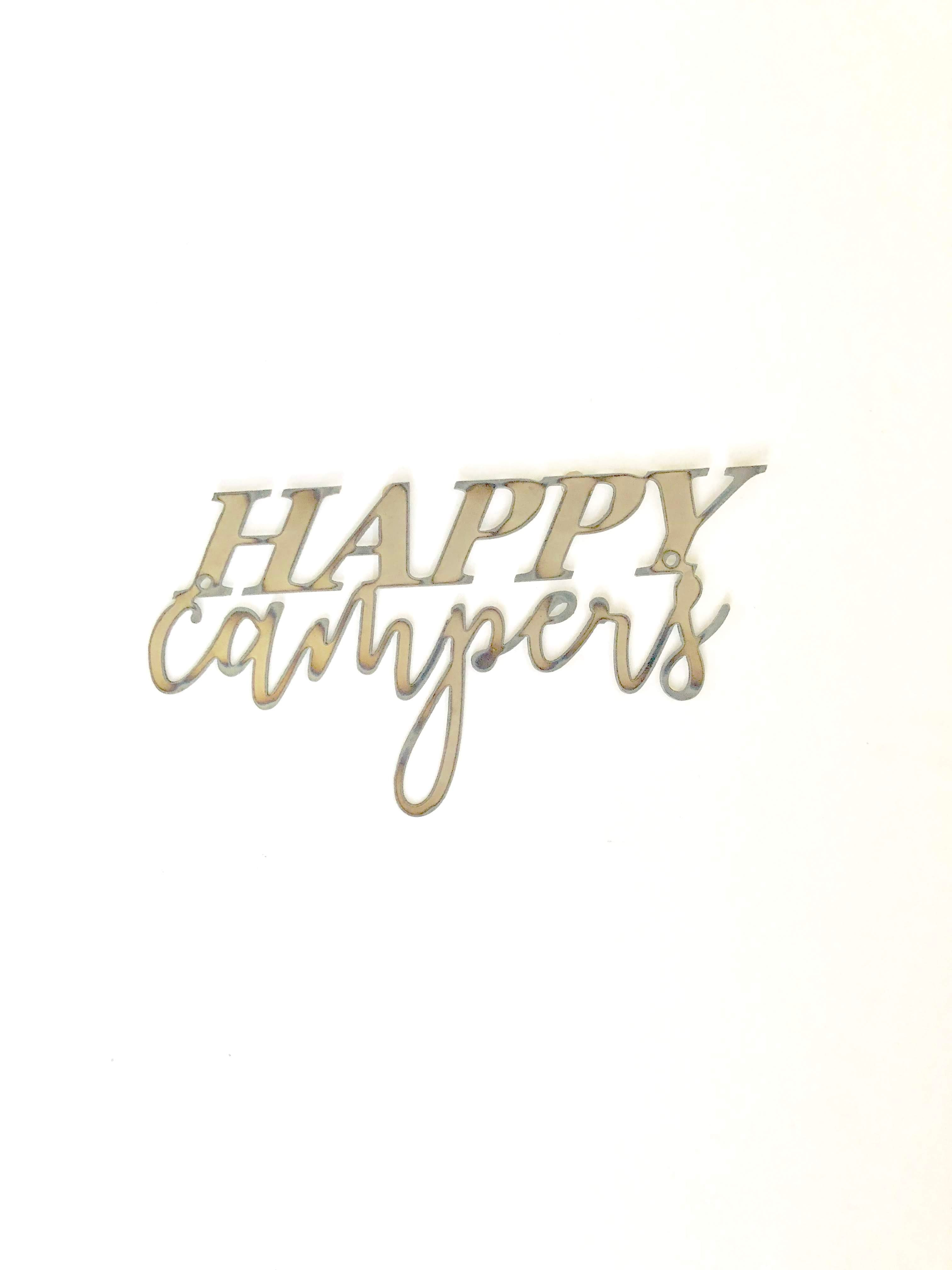 Happy Campers Script Metal Word Wall Expressions