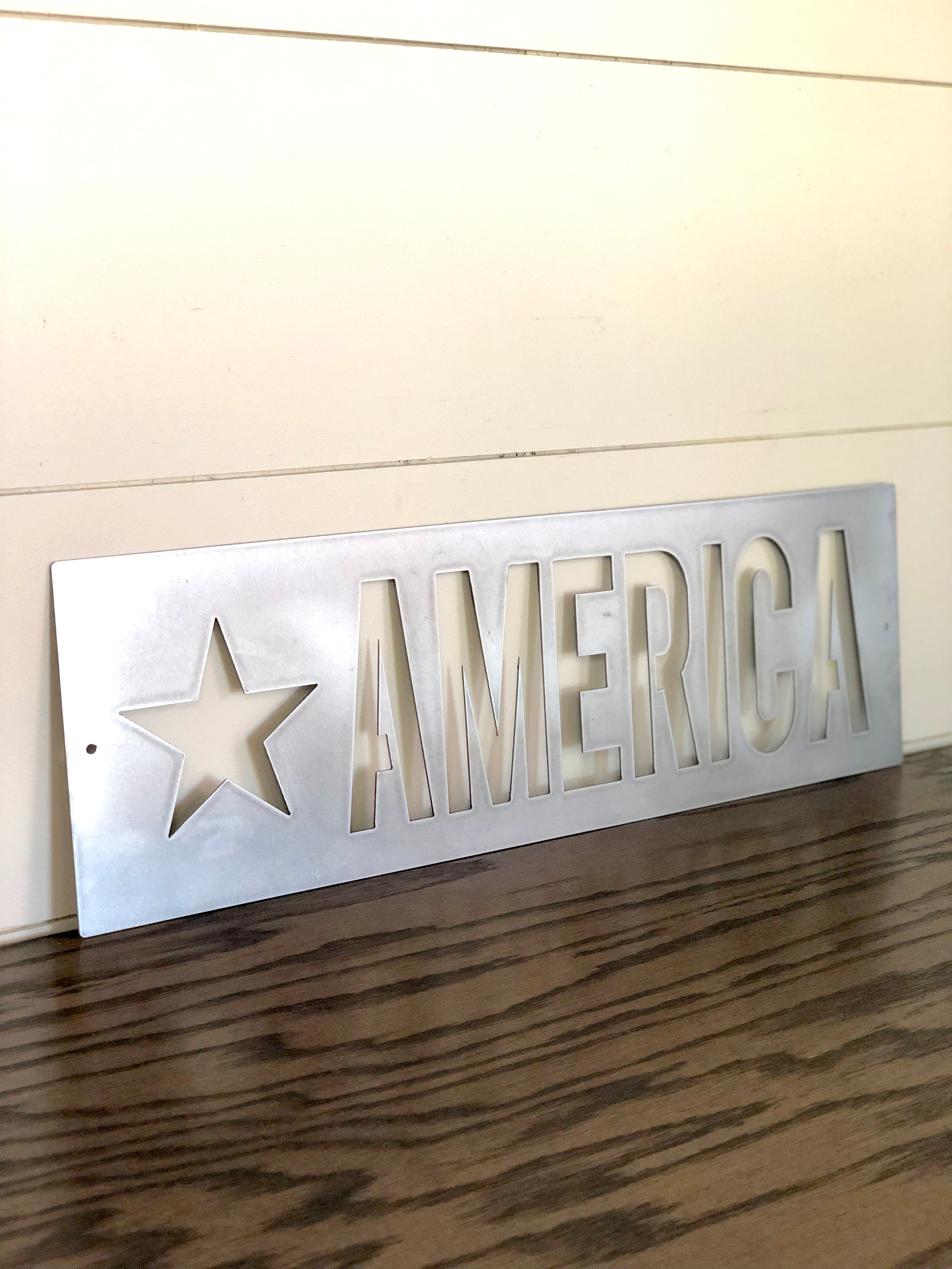 Star America Metal Sign