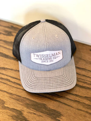 TTC - Embroidered 112 Richardson Trucker Snapback Heather Grey/Black embroidered logo patch
