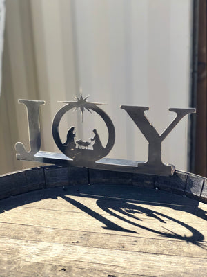 Joy Nativity Metal Stand