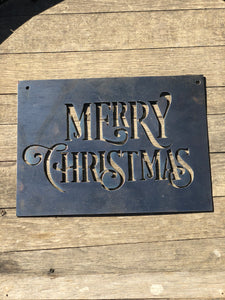 Merry Christmas Small Rectangular Metal Sign