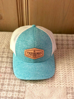 TTC - Leather 112 Richardson Low Pro Trucker Snapback Teal with Leather Patch Logo