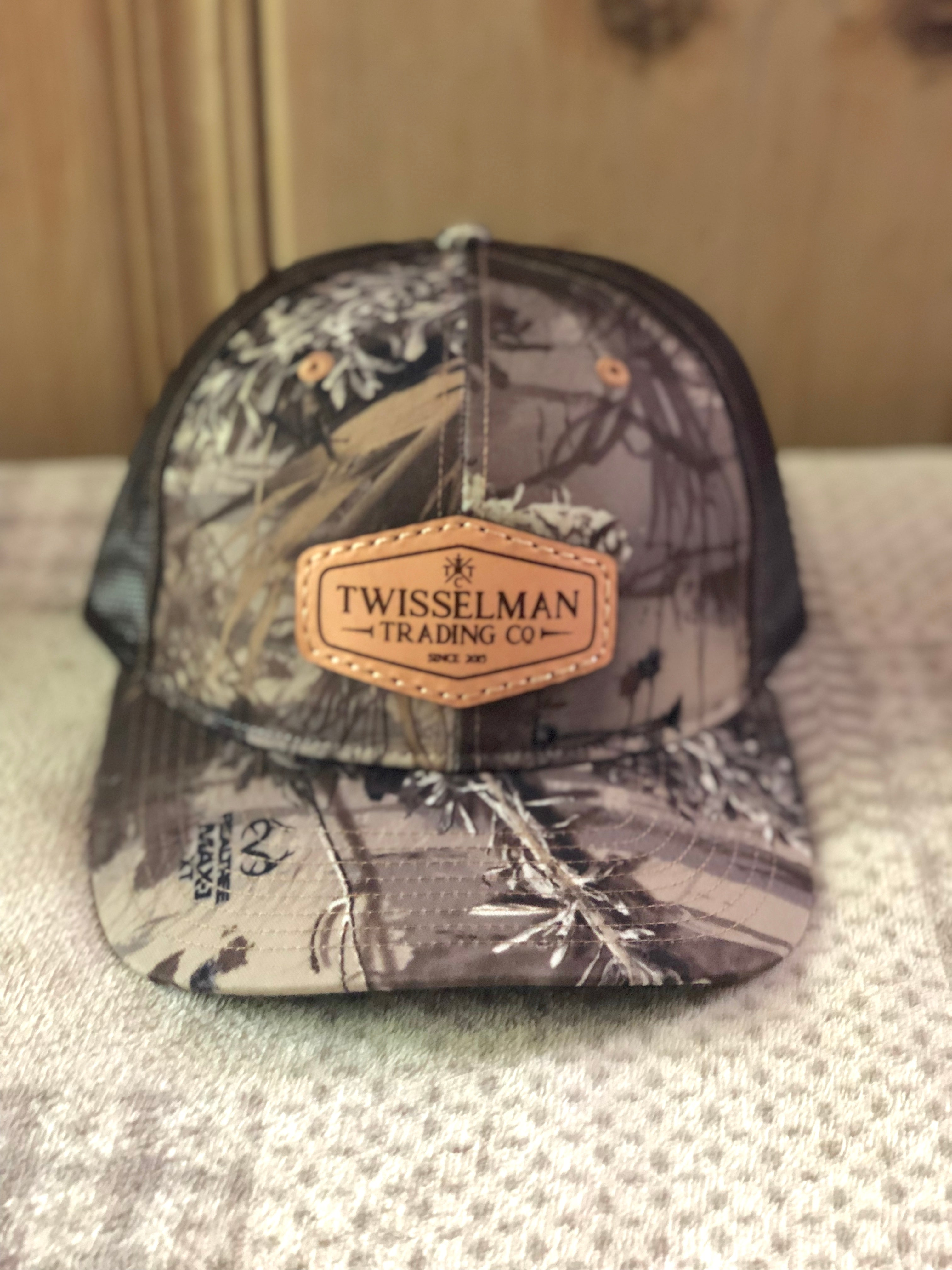 TTC - Leather 112 Richardson Trucker Snapback RealTree Max Camo with Leather Patch Logo