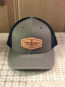 TTC - Leather 112 Richardson Trucker Snapback Loden/Olive with Leather Patch Logo