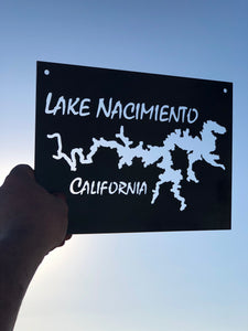 Lake Nacimento Rectangular Metal Sign