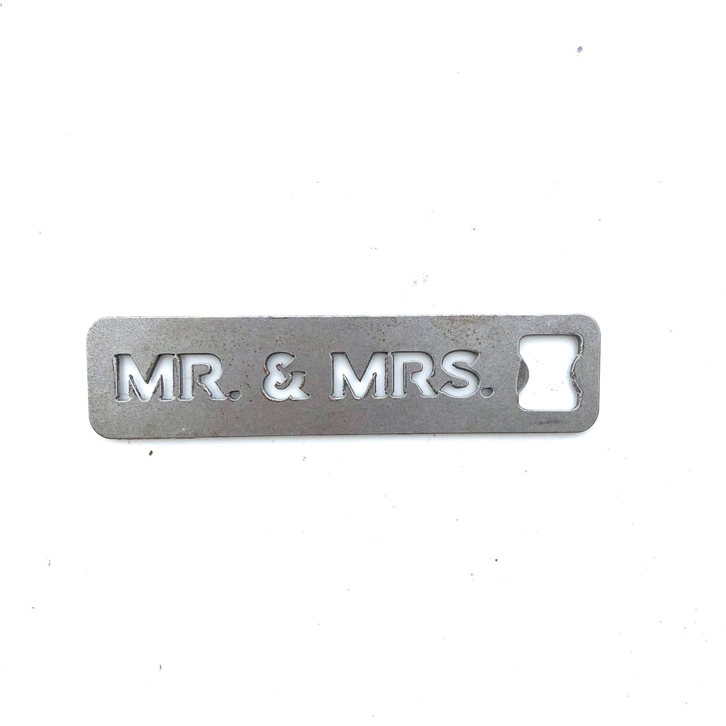 MR & MRS Metal Bottle Opener