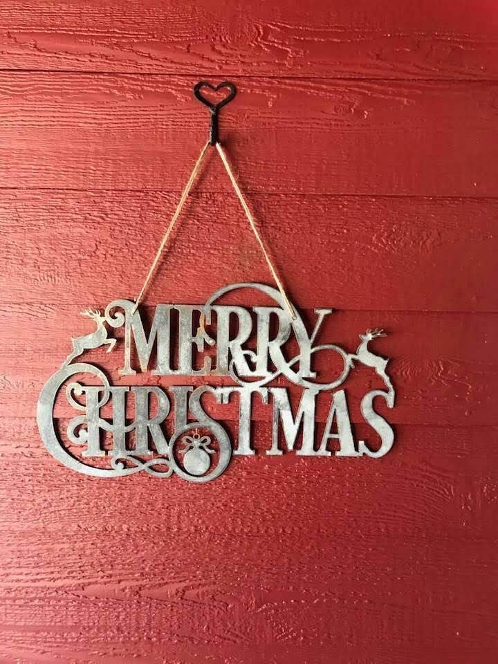 Merry Christmas Galvanized Metal Sign