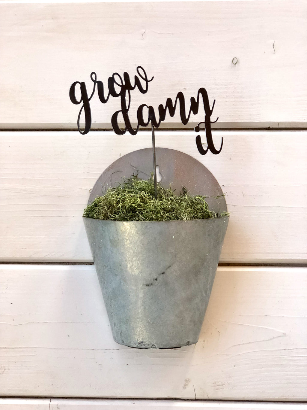 Metal Potted Plant Stakes, Script Font Plant Stakes