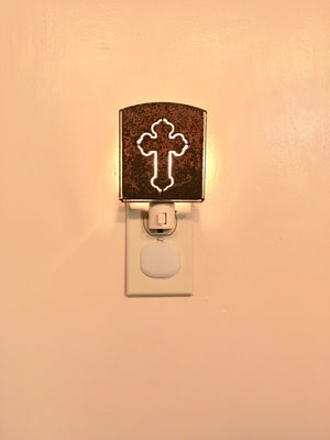 Custom Metal Night Light - Cross