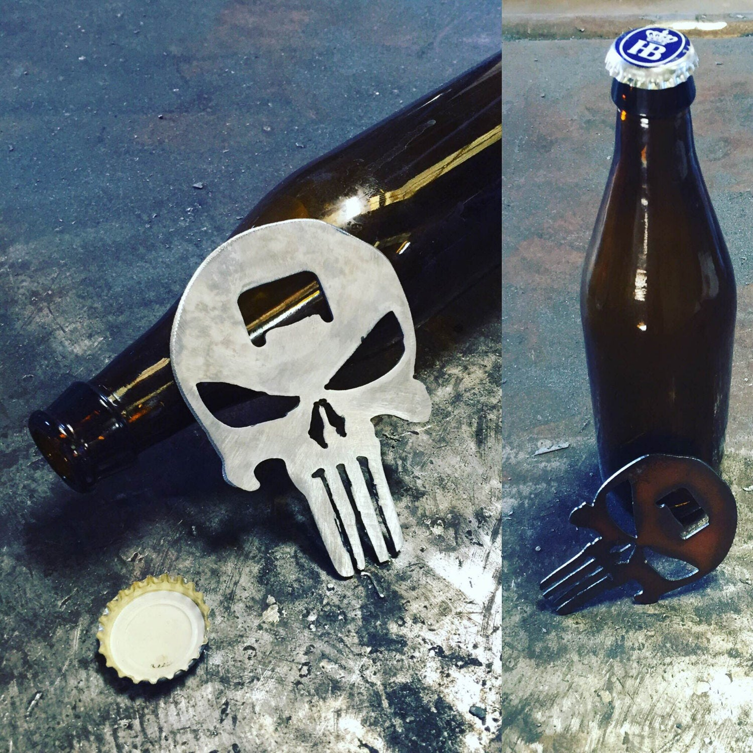 2nd Amendment Bottle Openers - Punisher Skull, Pistol