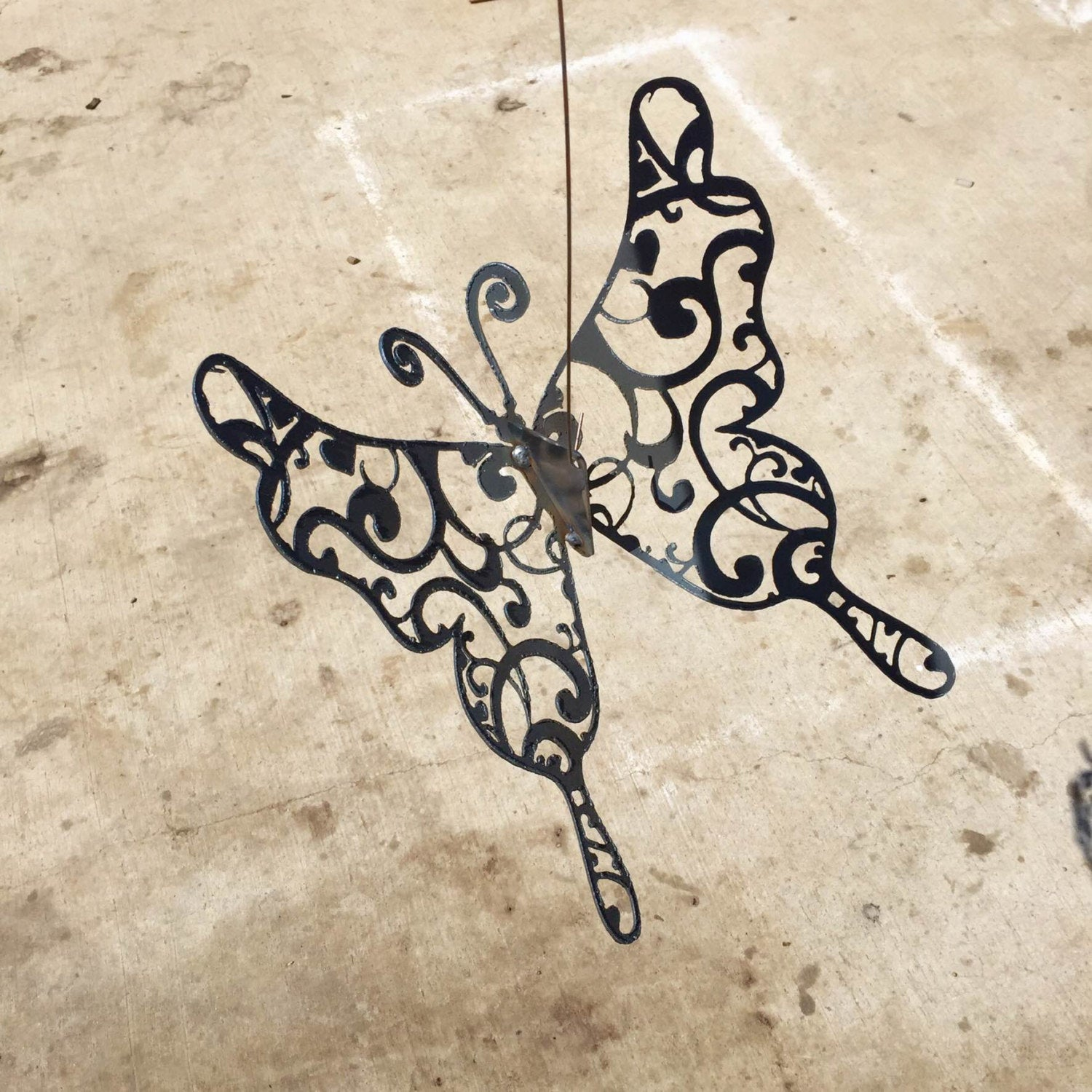 "Butterfly Metal Cutout 2D and 3D ""flying,"" butterfly gifts, gifts for her, metal butterfly, yard art, garden art, gifts for gardener"