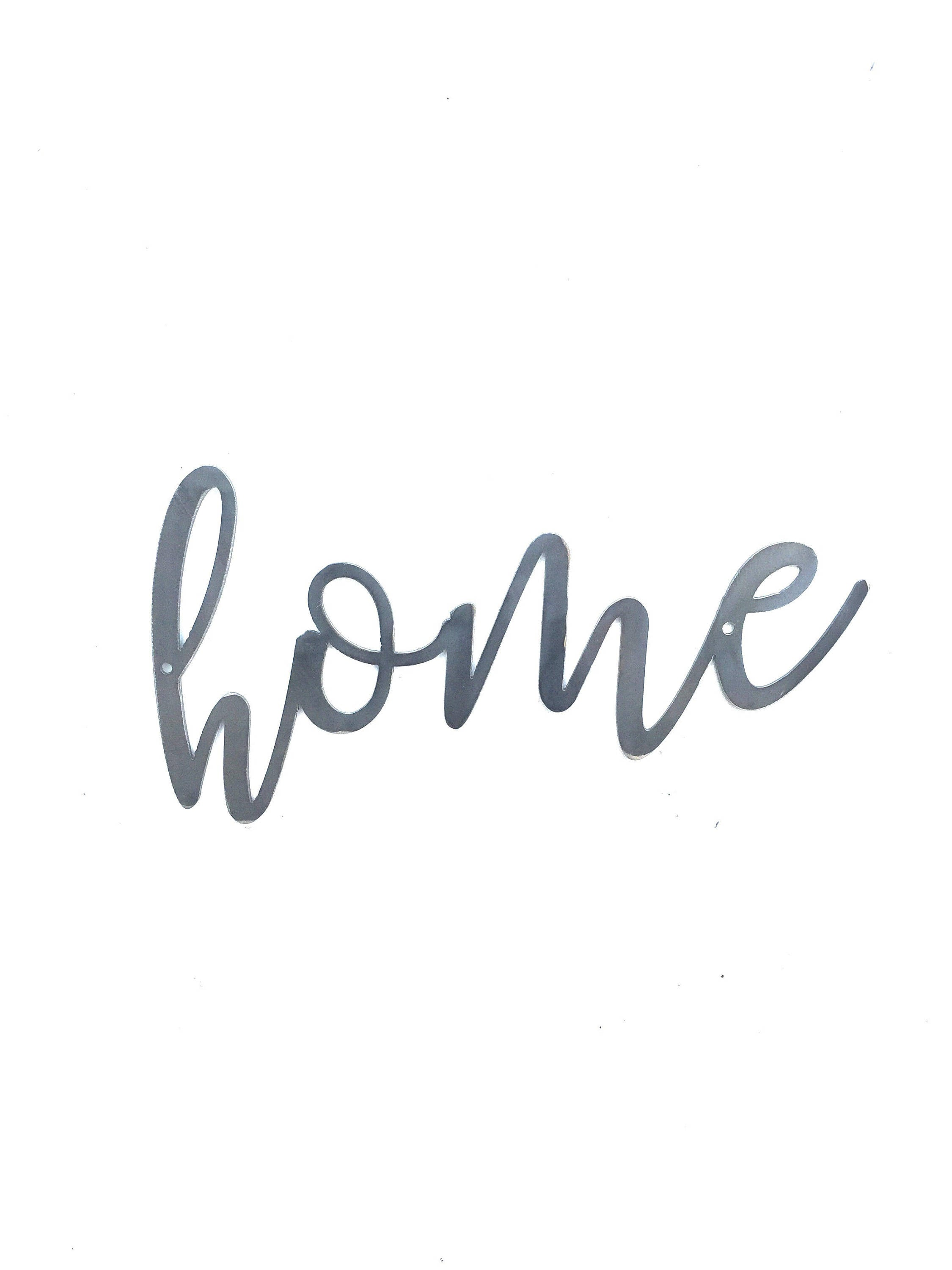 HOME Script Metal Word Wall Expressions