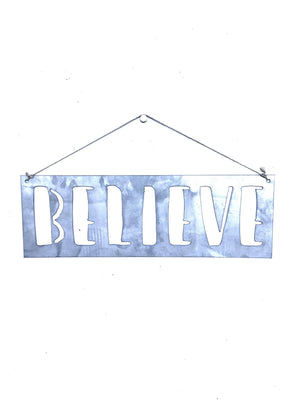 Galvanized Metal Words - Metal Word Art, Metal Inspirational Words, Hanging Words, Metal Word Signs, Hanging Words, Word Home Decor