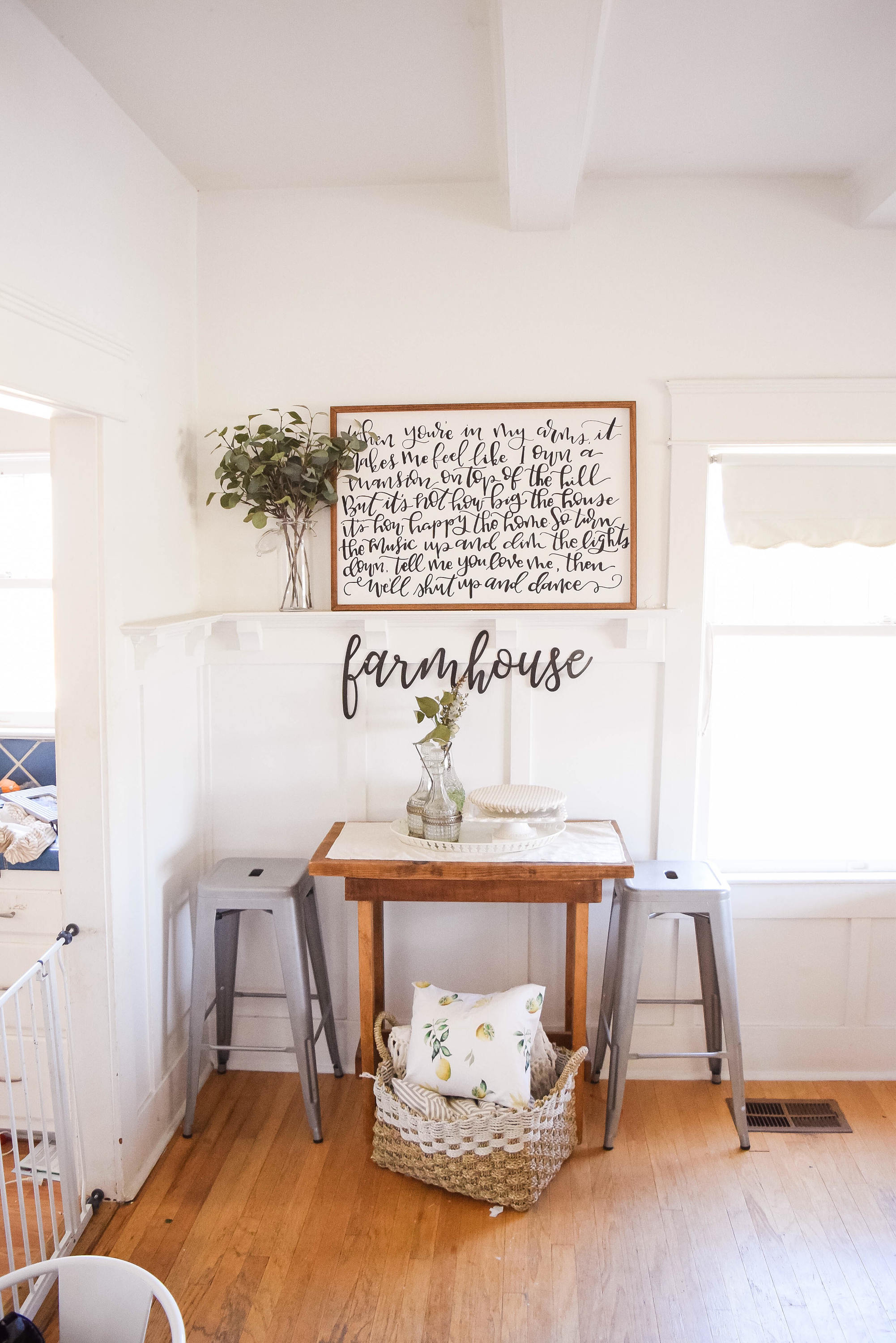 FARMHOUSE Script Metal Word Wall Expressions