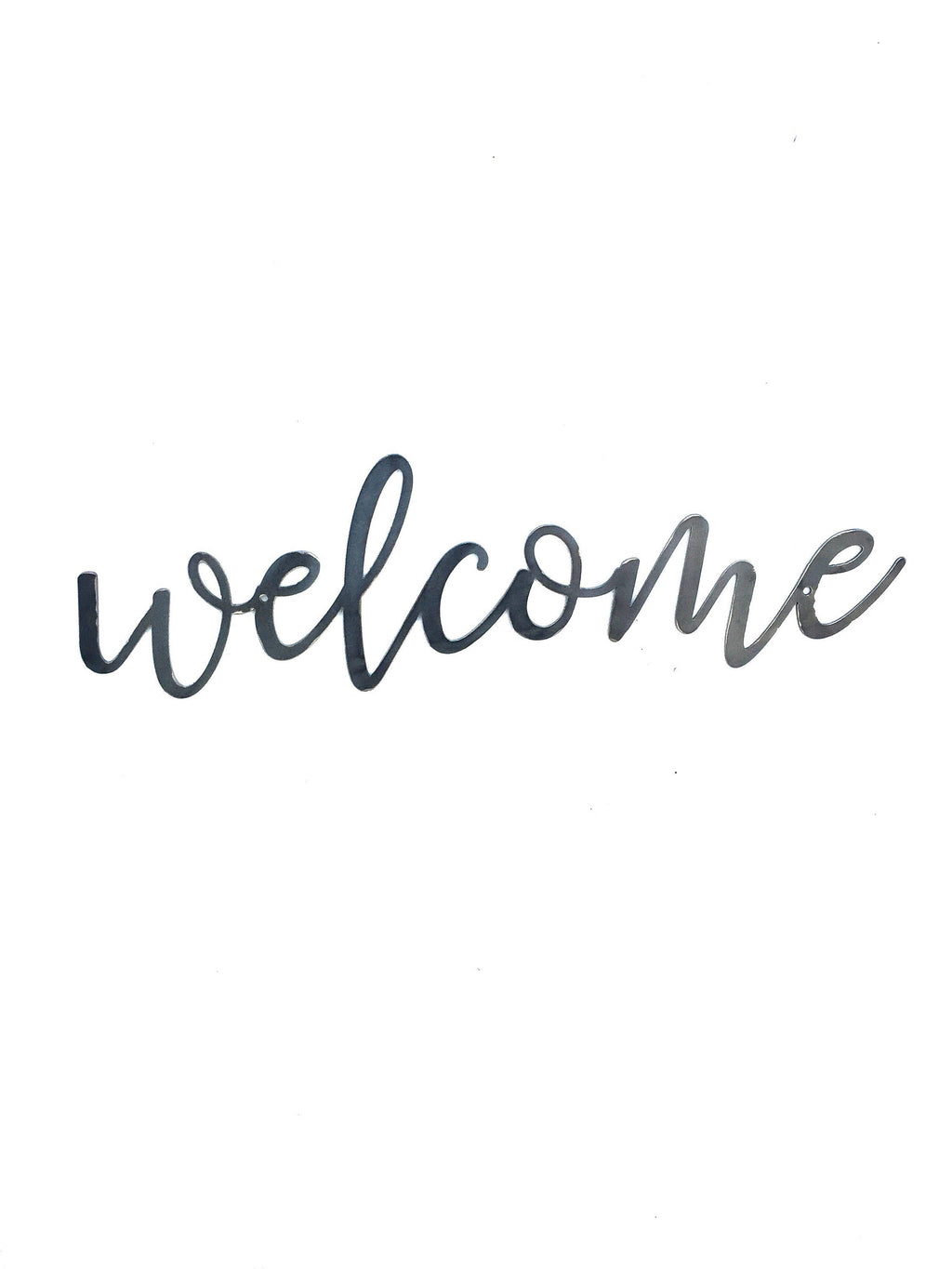 WELCOME Script Metal Word Wall Expressions