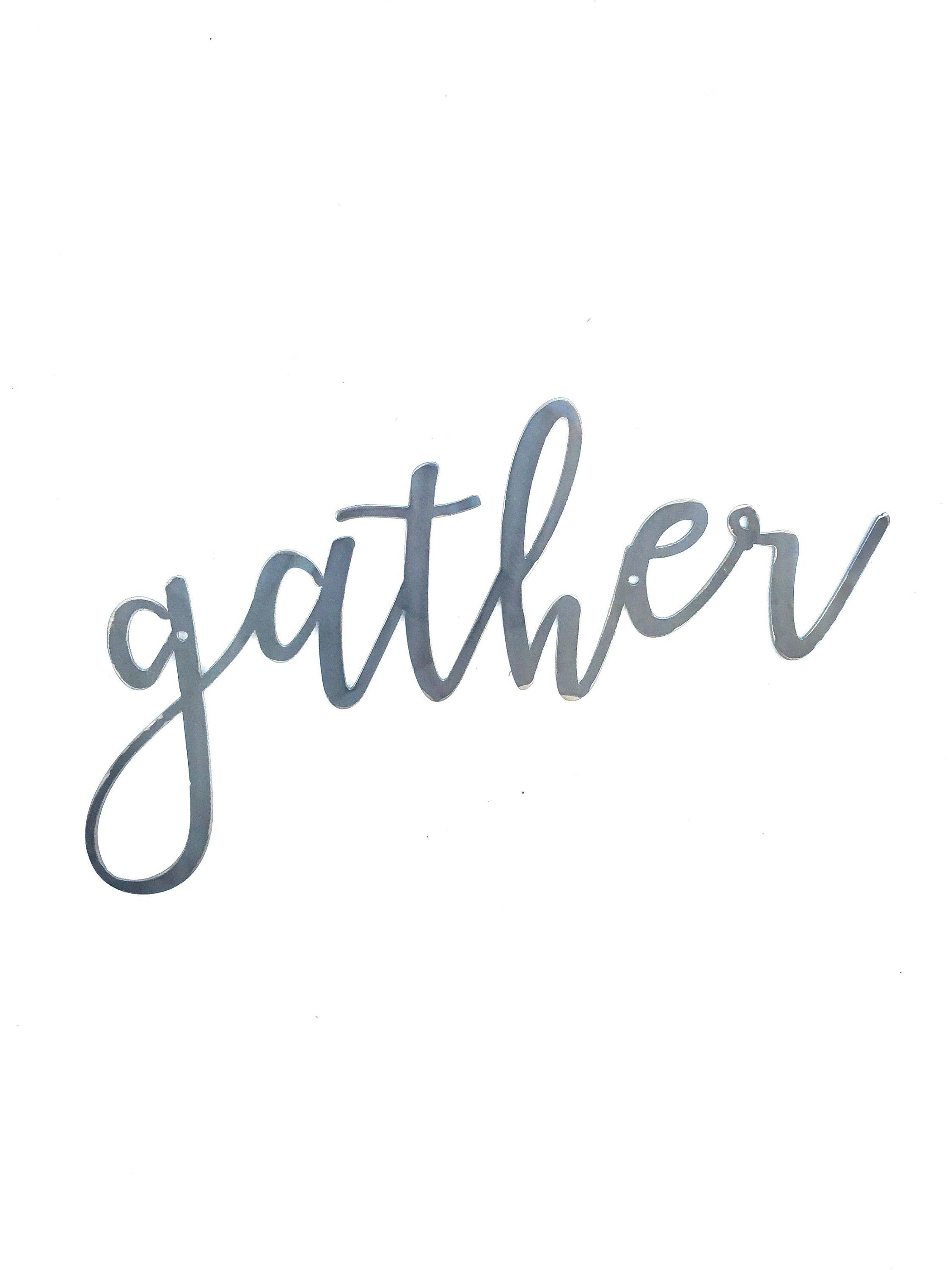 GATHER Script Metal Word Wall Expressions