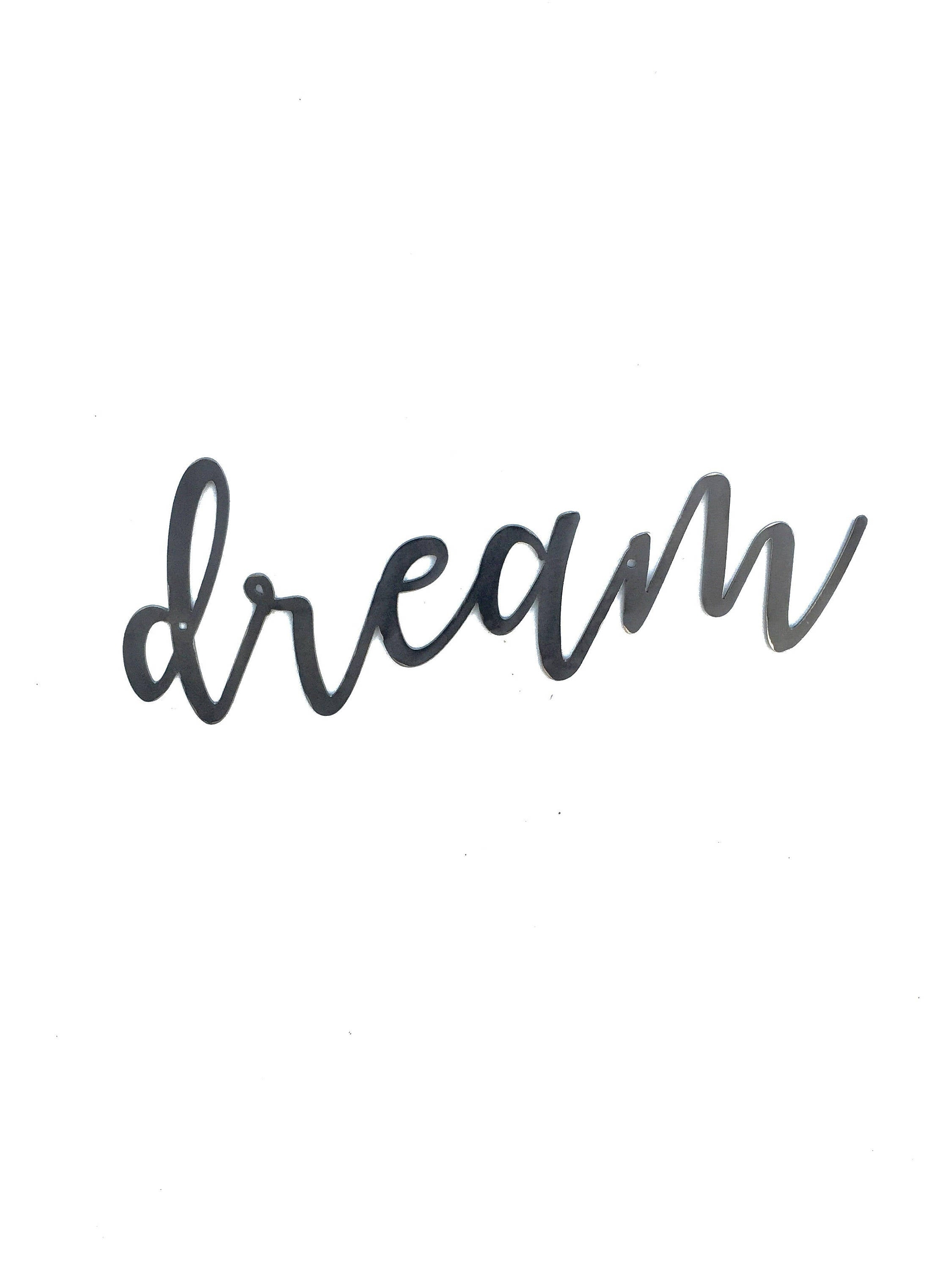DREAM Script Metal Word Wall Expressions