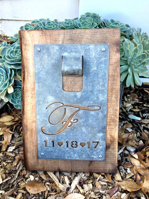 Personalized Monogram Metal Bottle Opener