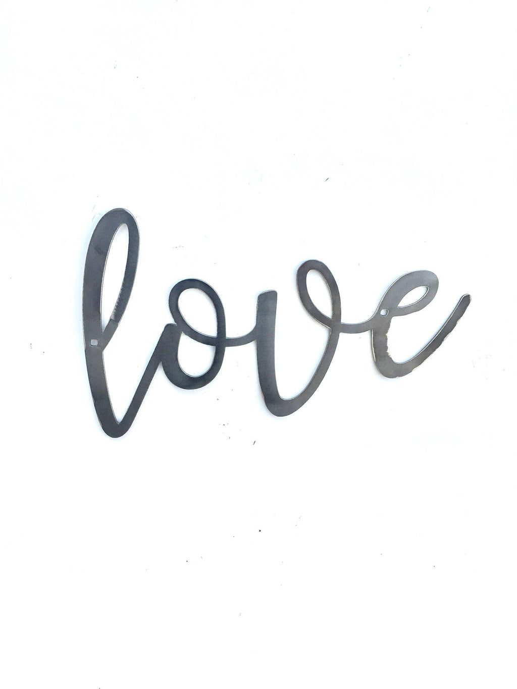 LOVE Script Metal Word Wall Expressions