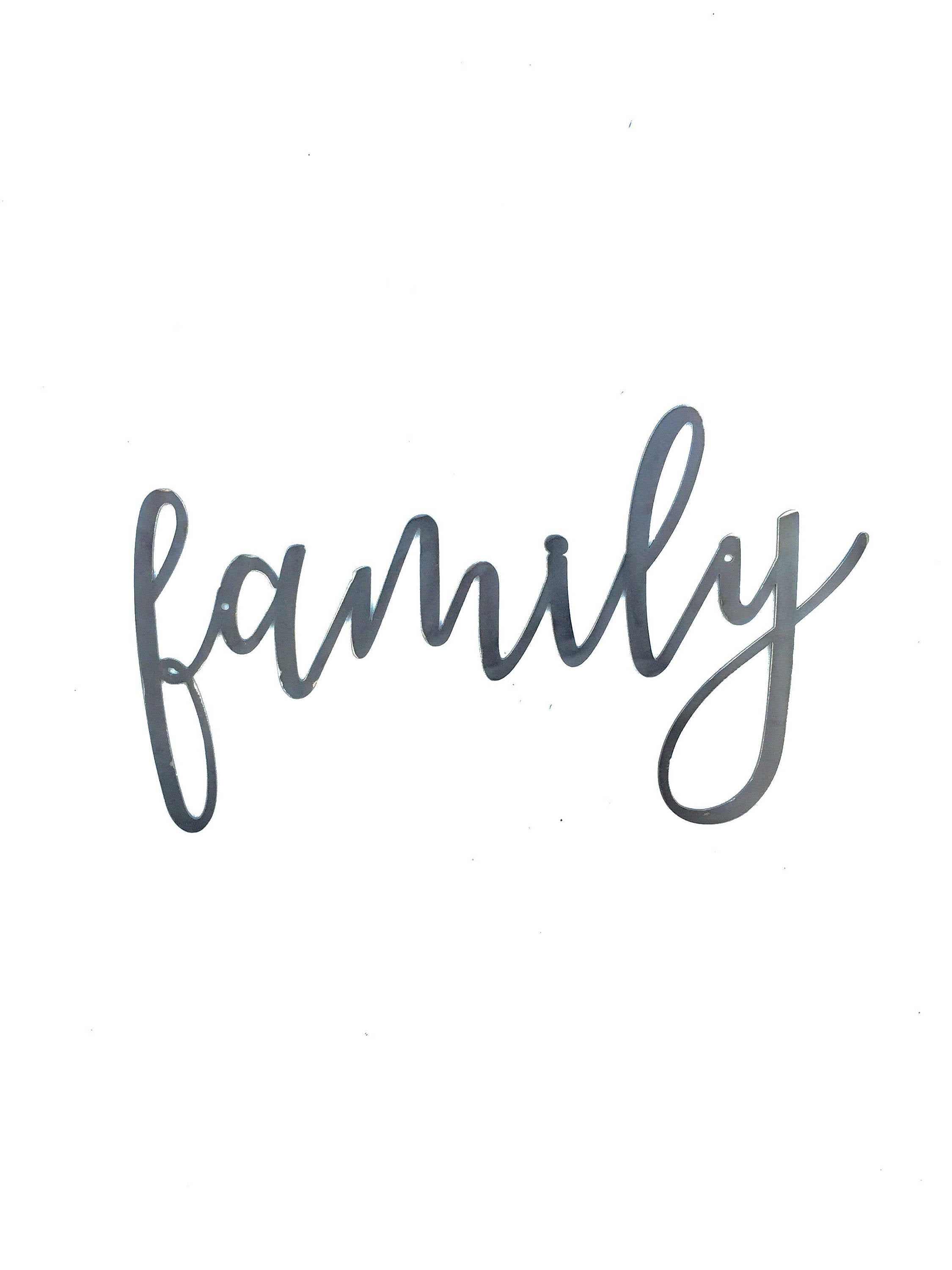 FAMILY Script Metal Word Wall Expressions