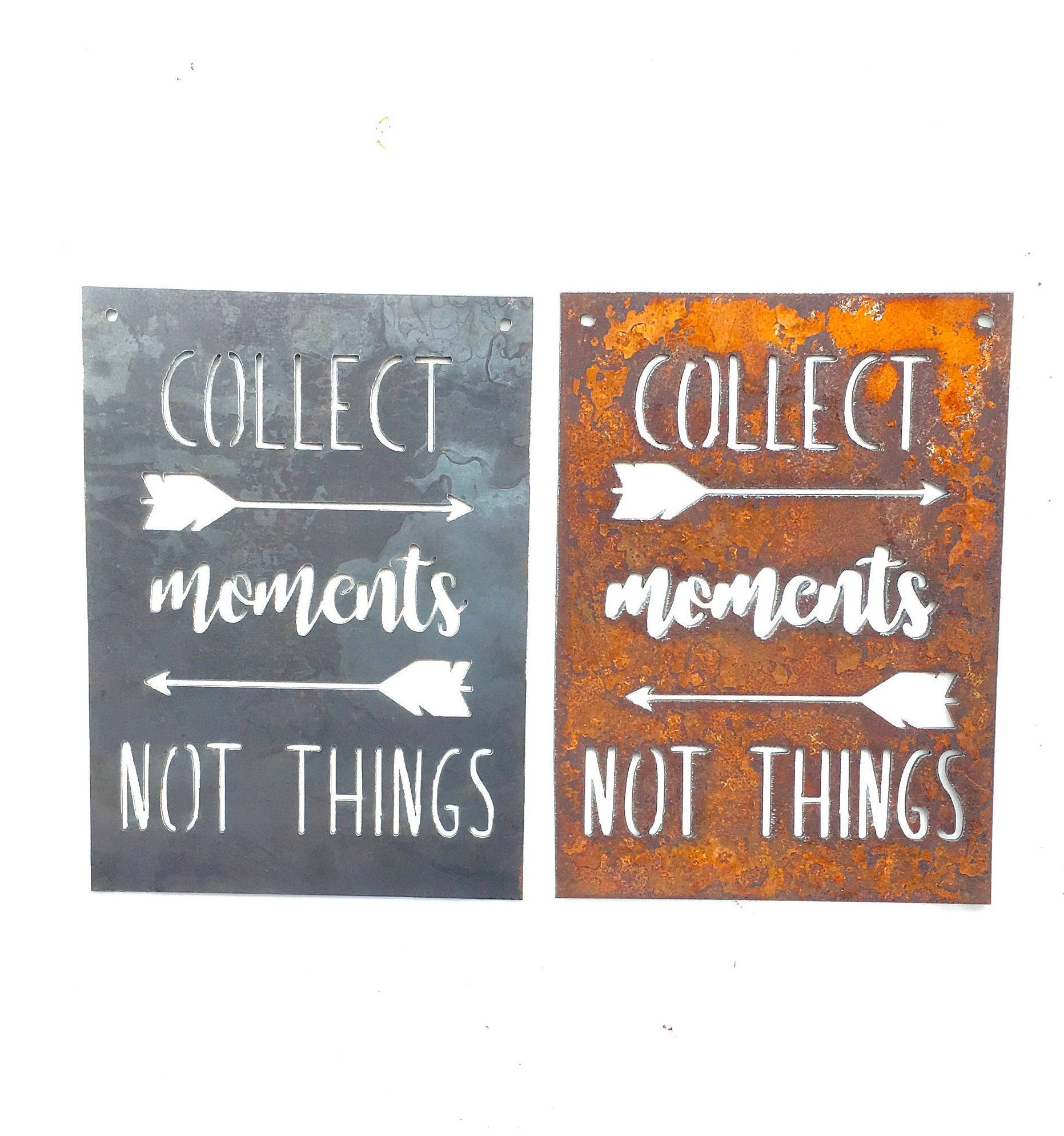 Collect Moments Not Things Small Rectangular Metal Sign