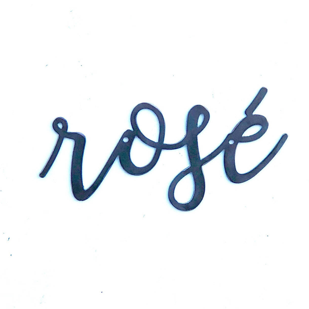 ROSE' Script Metal Word Wall Expressions