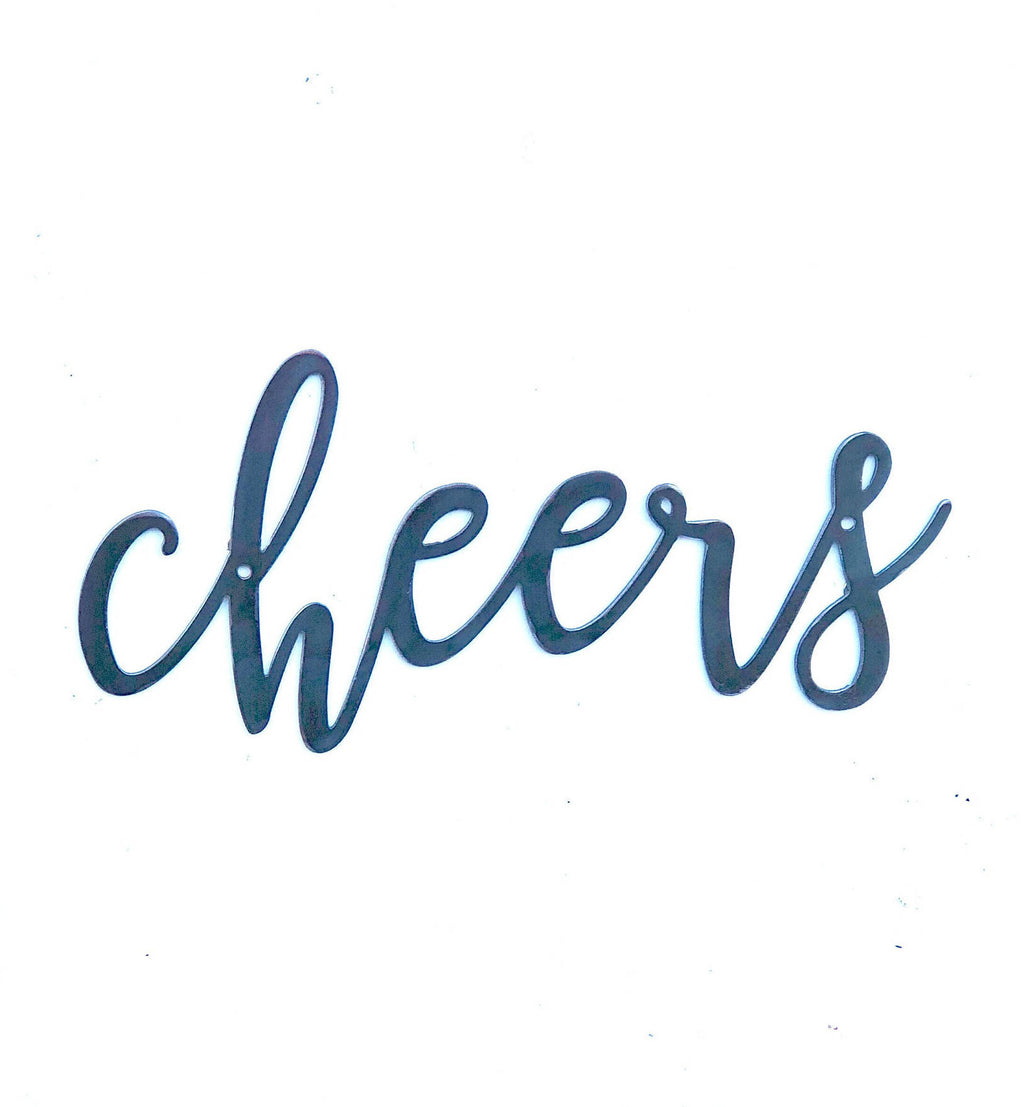 CHEERS Script Metal Word Wall Expressions