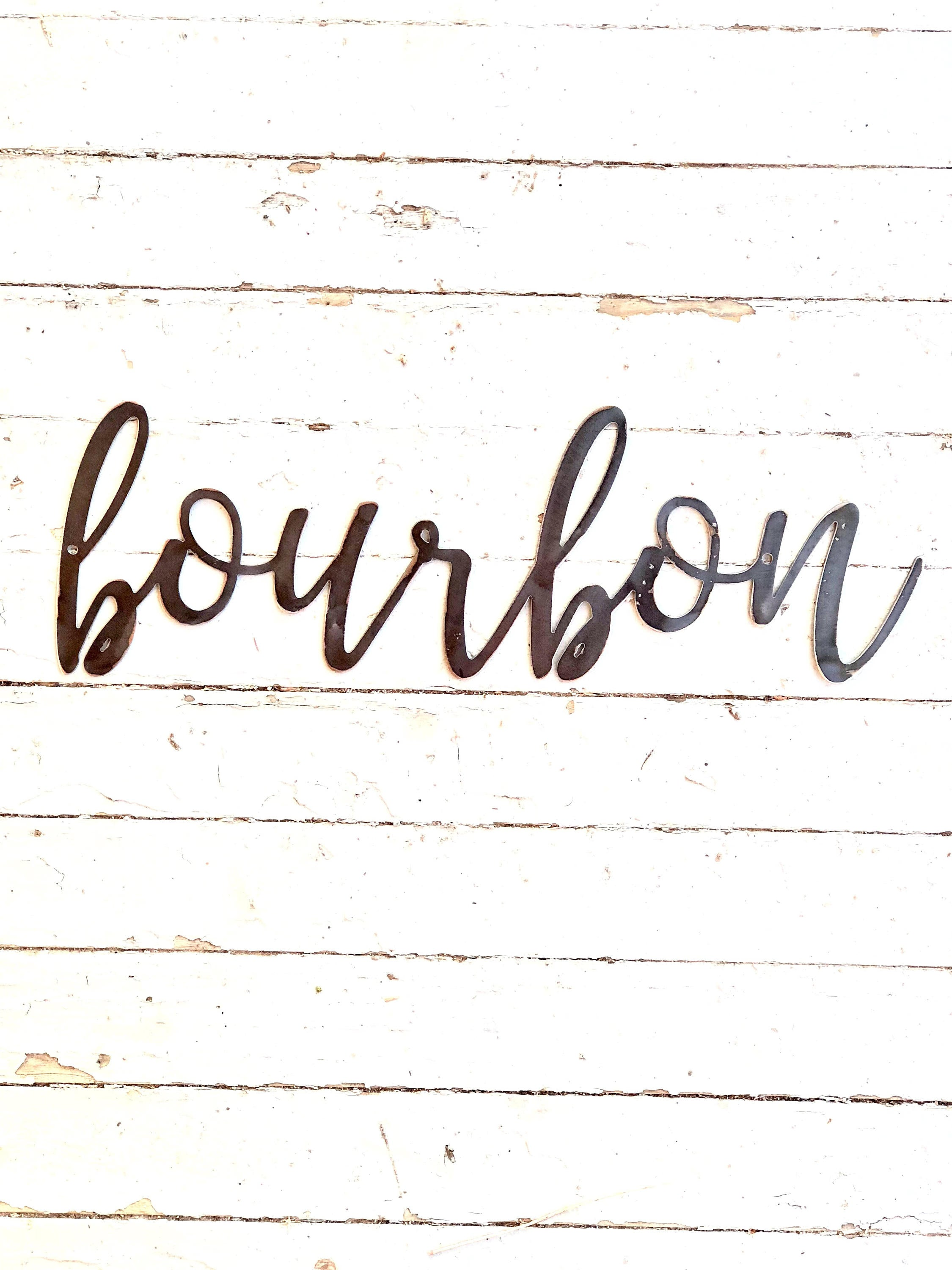 BOURBON Script Metal Word Wall Expressions