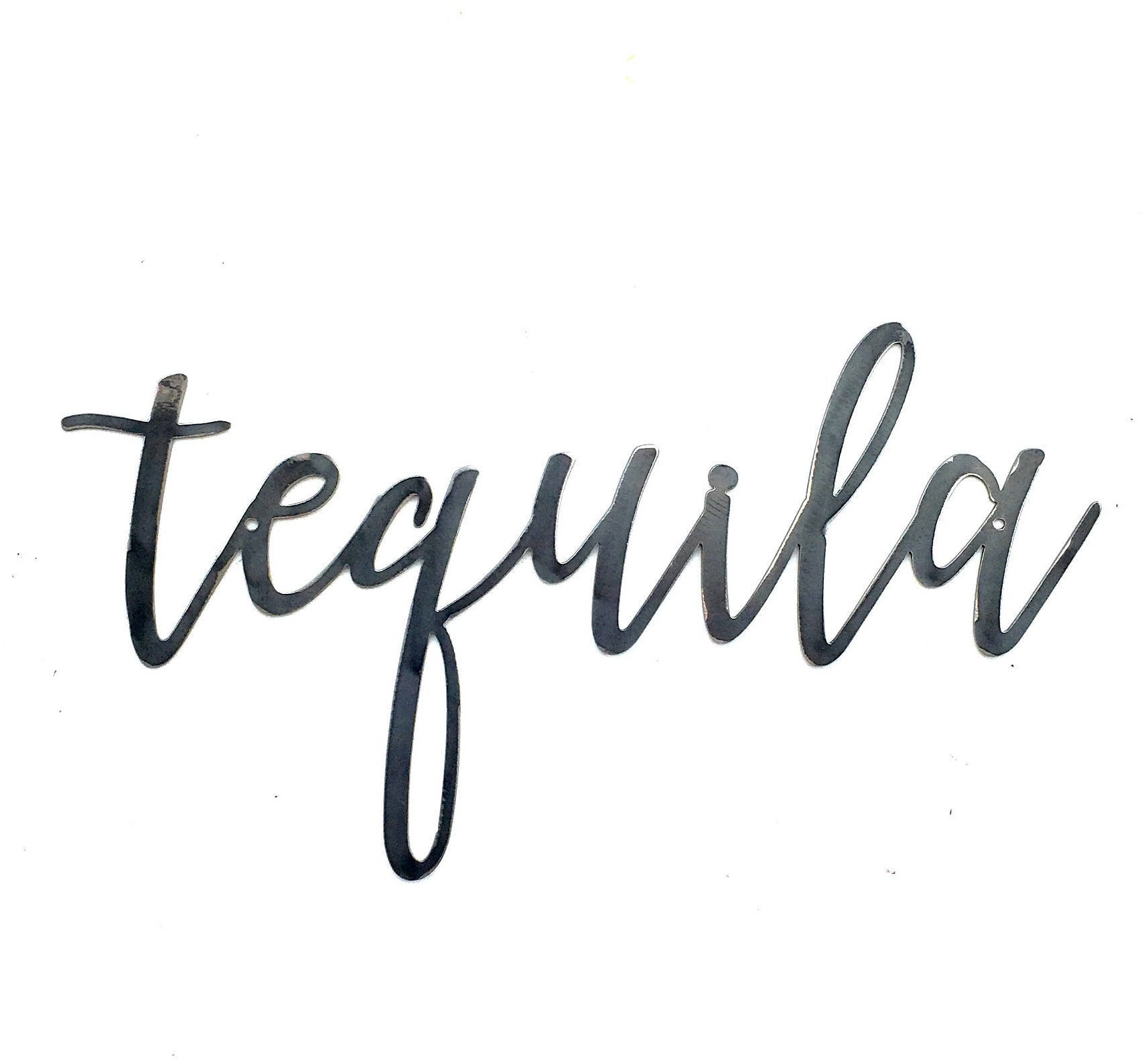 TEQUILA Script Metal Word Wall Expressions