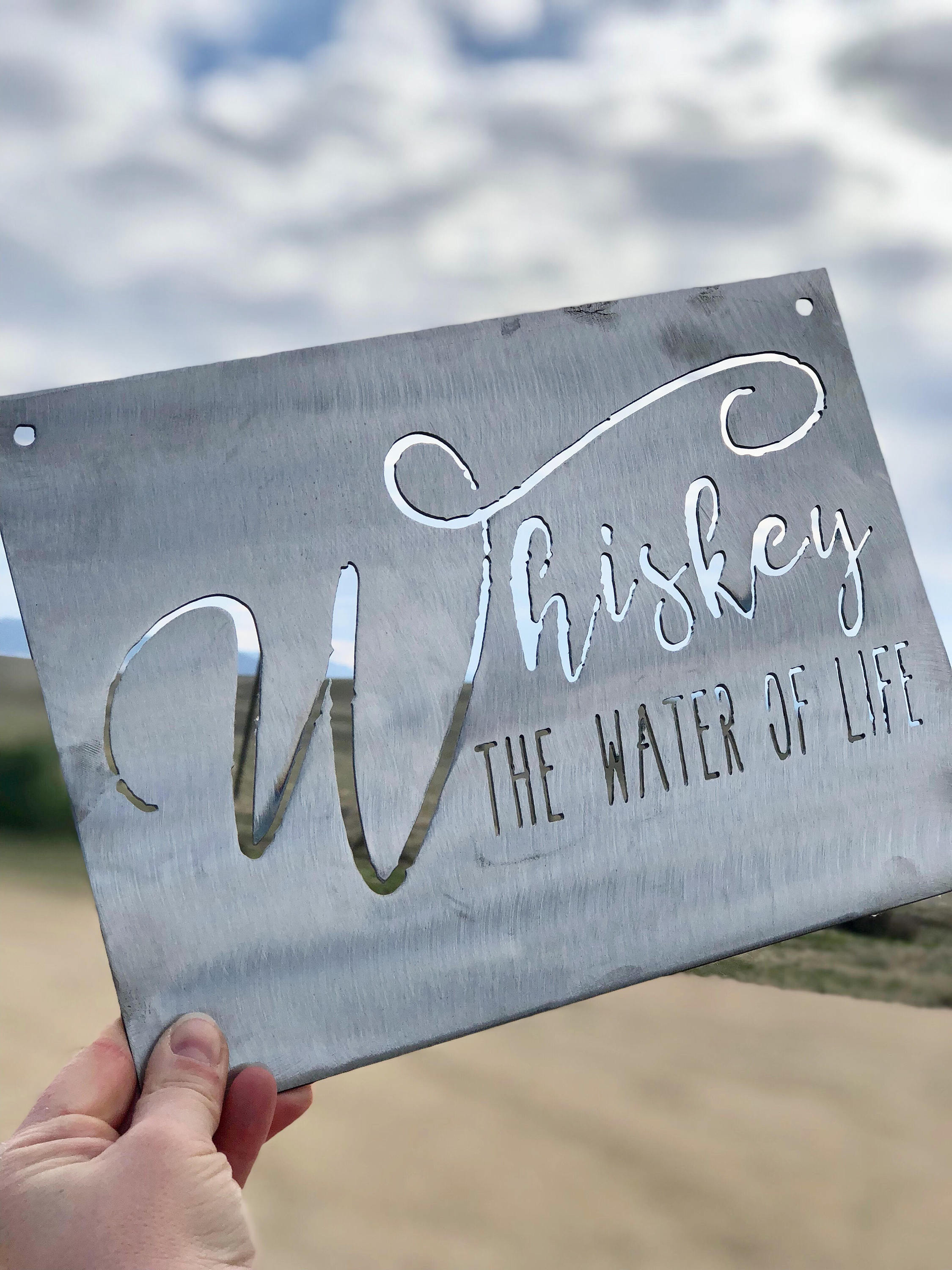 Whiskey the Water of Life Small Rectangular Metal Sign