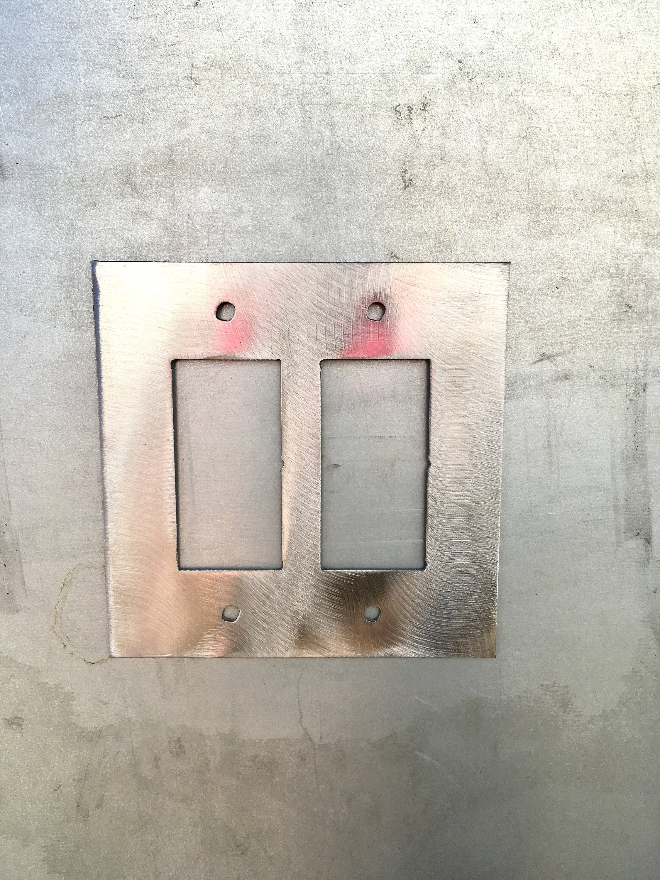 Buffalo Metal Switch Plate Cover/Outlet Cover/Rustic Lighting/Decorative Lighting/Unique Art/Custom Home Decor/Rustic Home Decor/Wallplates