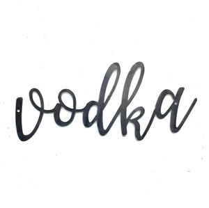 VODKA Script Metal Word Wall Expressions