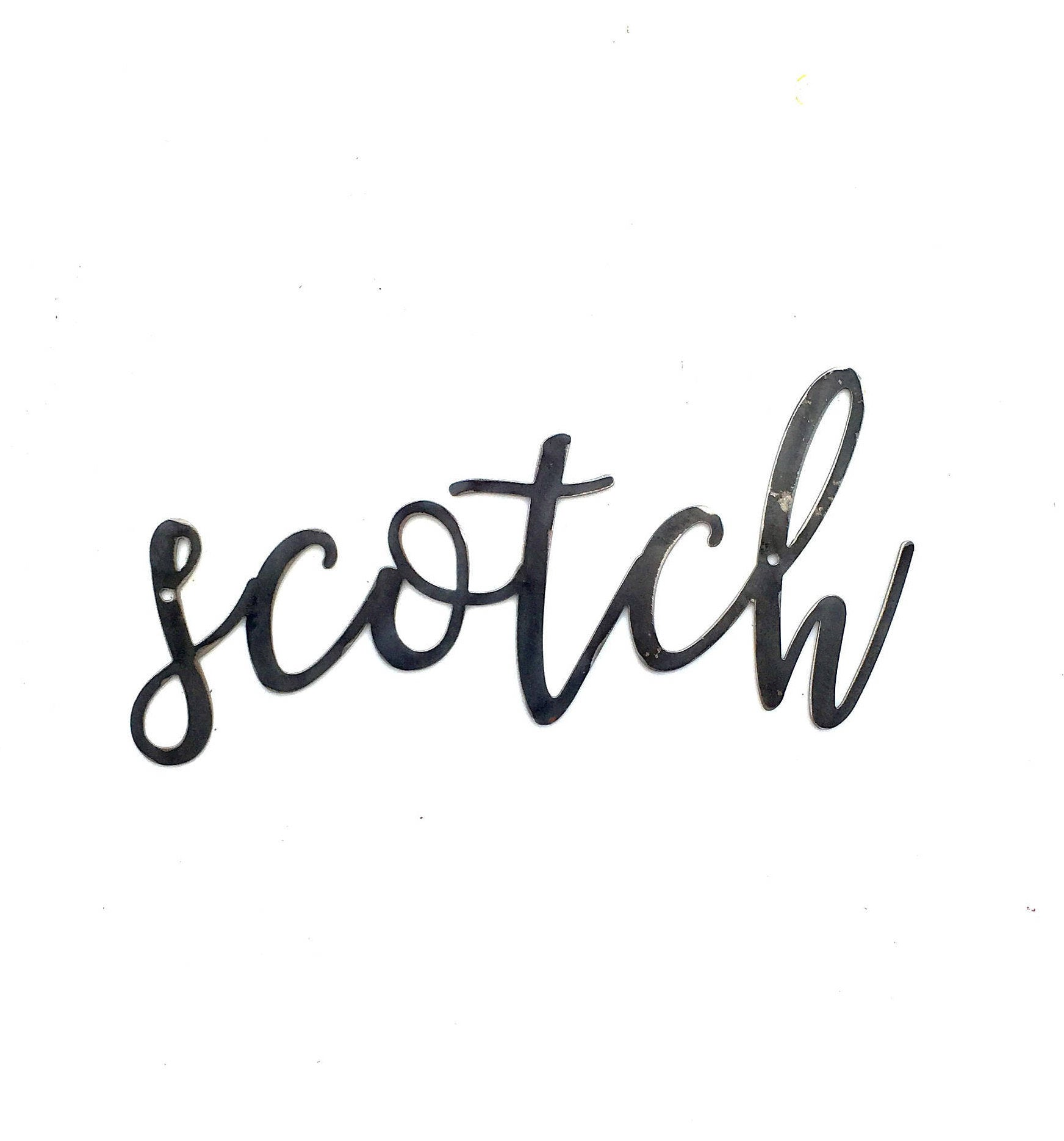 SCOTCH Script Metal Word Wall Expressions