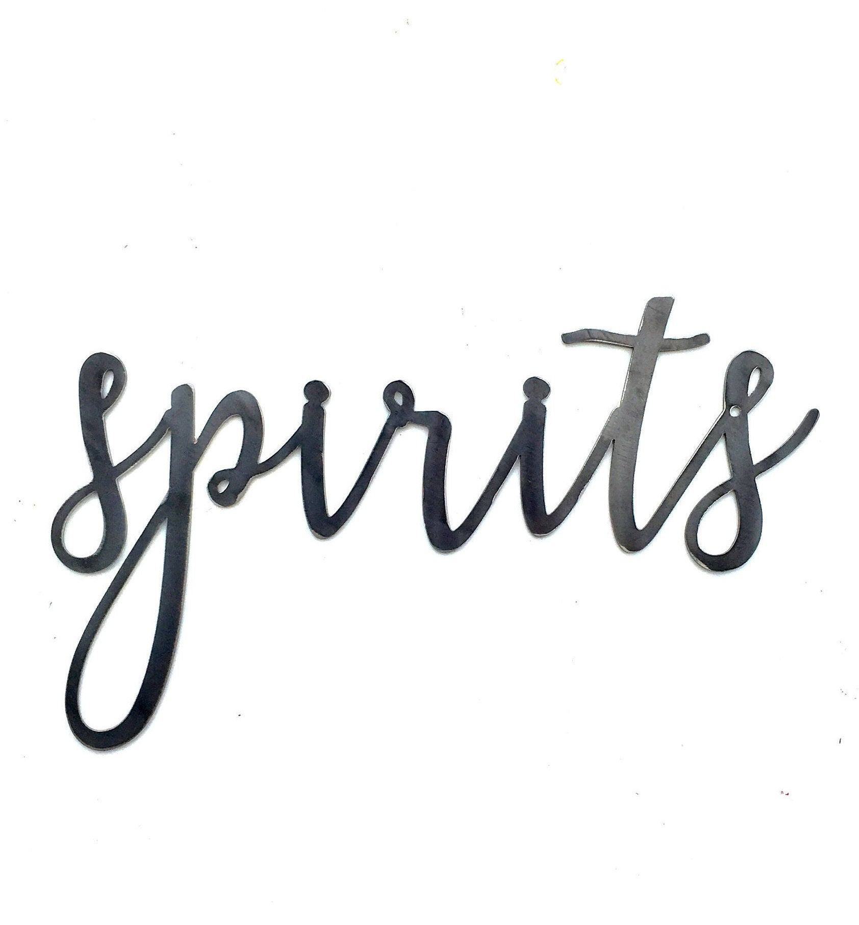 SPIRITS Script Metal Word Wall Expressions