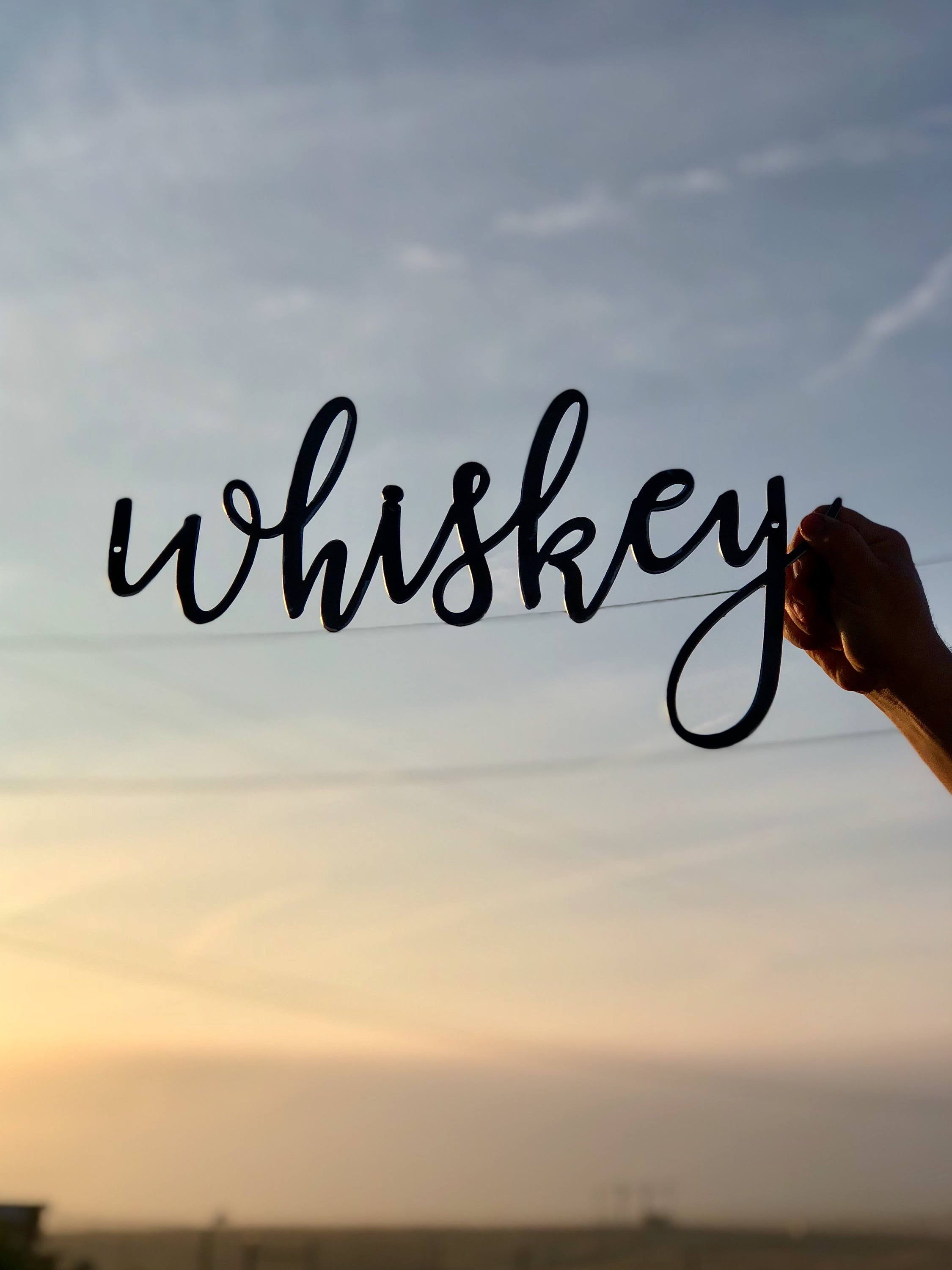 WHISKEY Script Metal Word Wall Expressions