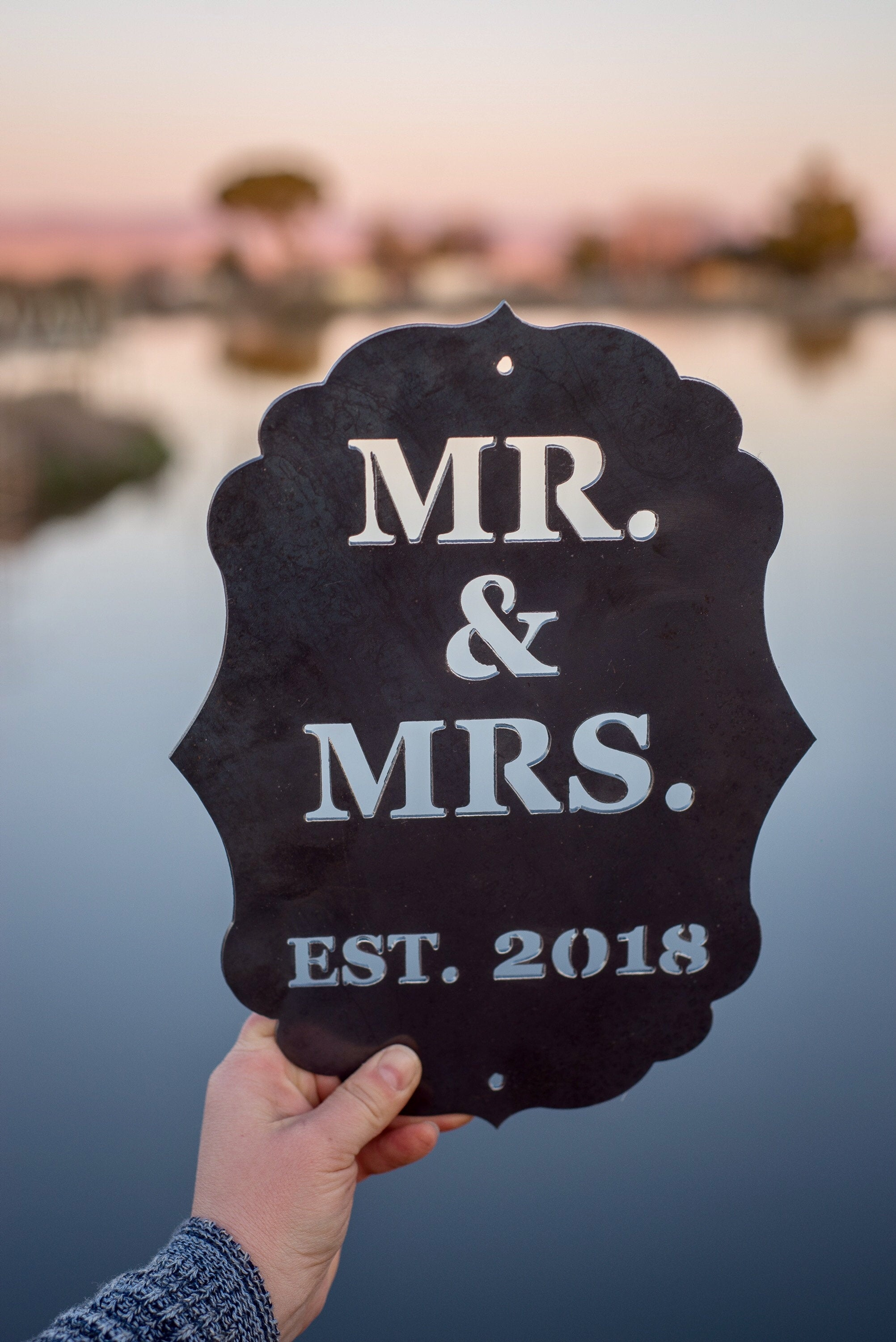Mr & Mrs established Metal Wall Hanging
