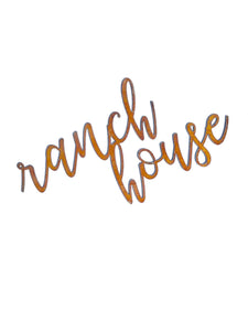 RANCH HOUSE Script Metal Word Wall Expressions