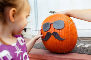 Pumpkin Glasses and Mustache Pieces