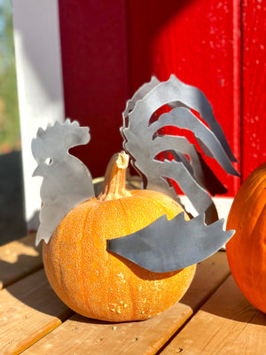 Pumpkin Rooster Pieces