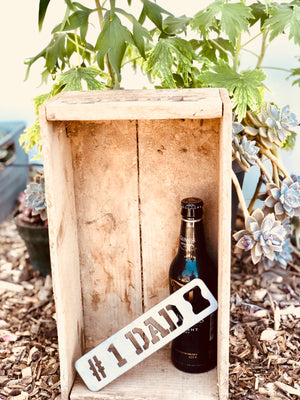 #1 DAD Metal Bottle Opener